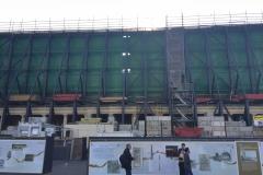 Noch eine unansehnliche Baustelle mitten in der Stadt - bald schon wieder Nobelherberge: Das Dom-Hotel