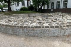 Mauerreste, z.T. wieder aufgemauert, des Kastells Deutz, Bild: Uli Kievernagel