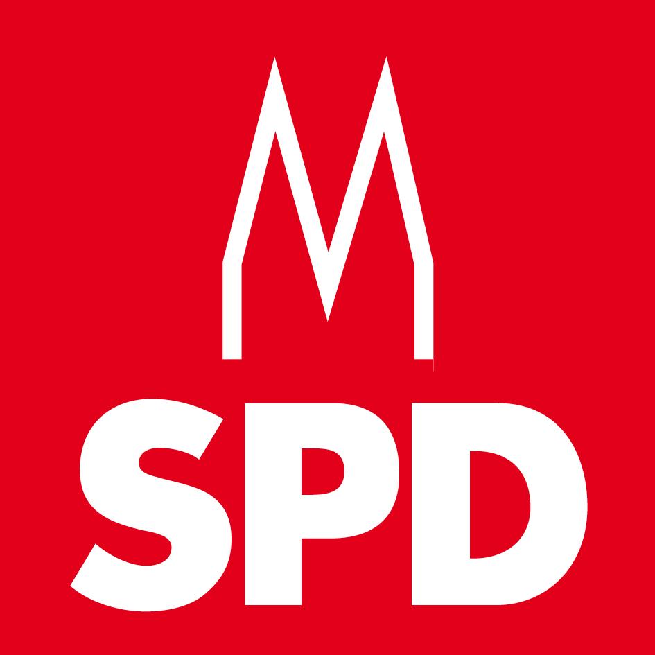 Die Kölner SPD in traditionellem rot. Und mit Dom,